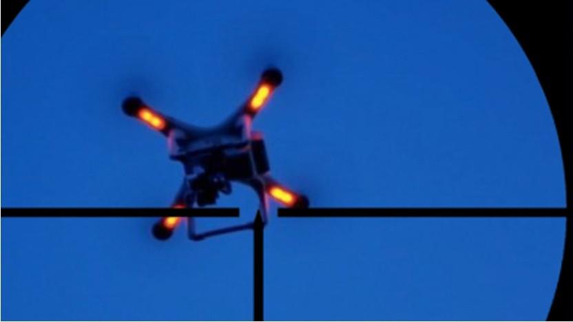 Eine Drohne von unten
