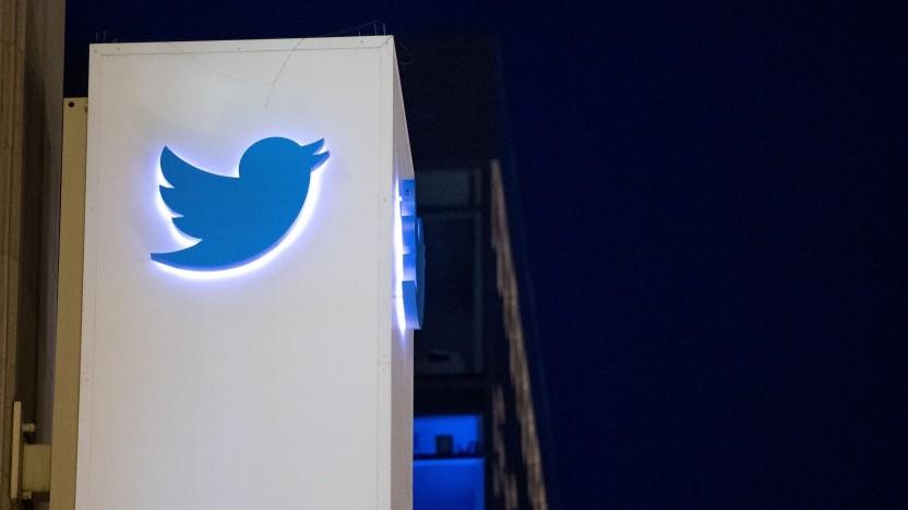Twitter-Logo an der Firmenzentrale in San Francisco