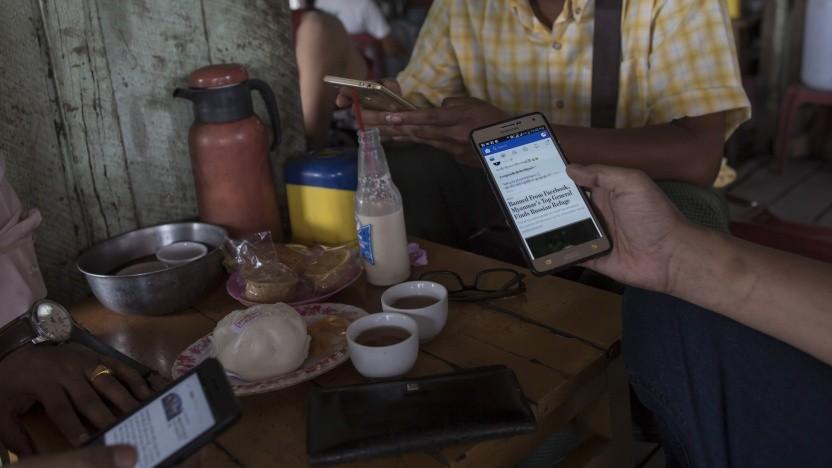 Internetnutzer in Myanmar