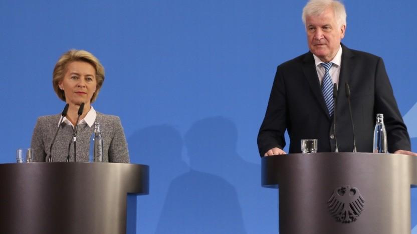 Verteidigungsministerin von der Leyen und Innenminister Horst Seehofer