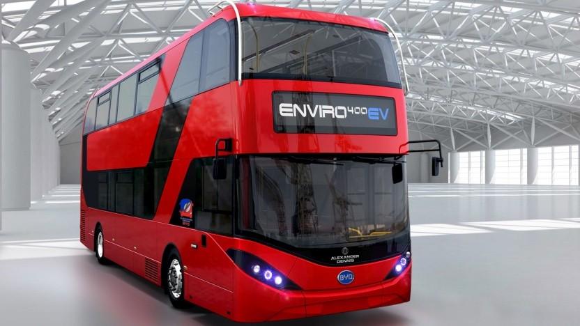 Londons Enviro 400 EV wurde ausgeliefert.