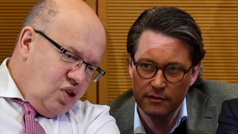 Verkehrsminister Andreas Scheuer (r.) und Wirtschaftsminister Peter Altmaier