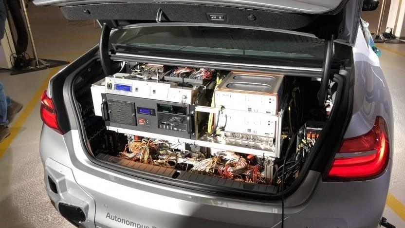 Testwagen für autonomes Fahren von BMW