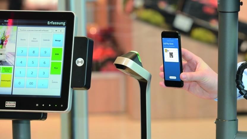 Die Lidl-App könnte künftig das Bezahlen per QR-Code ermöglichen.