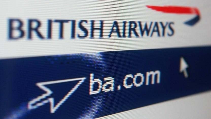 Webseite von British Airways