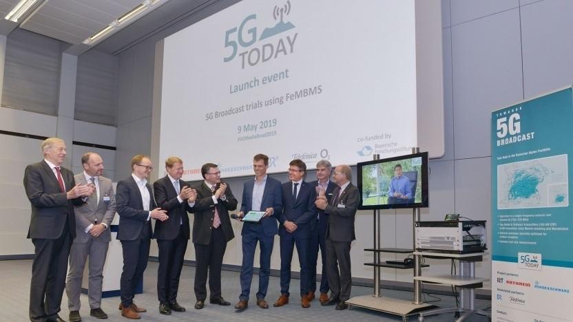 Das erste 5G-Fernseh-Testnetz ist schon live.