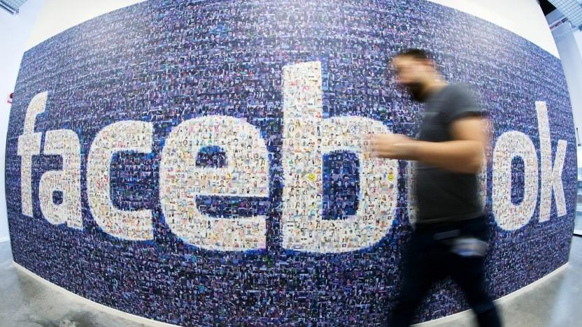 Facebook-Schriftzug in der schwedischen Niederlassung