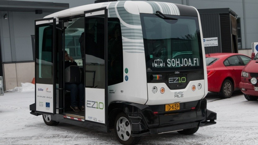 Autonomer Elektrobus EZ 10 von Easymile (in Helsinki): Ländliche Regionen attraktiv machen