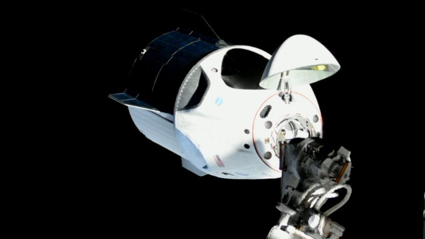 Im März dockte das später verunglückte Raumschiff an der ISS an.