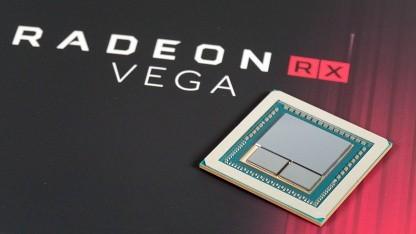 Vega-10-Chip einer Radeon Vega 64