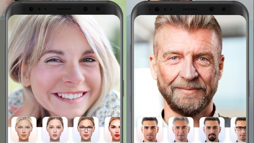 Faceapp legt Filter über Selfies.