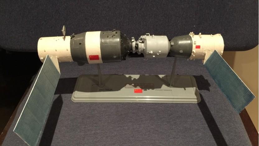 Modell von Tiangong-2 mit Shenzhou-Raumfähre: über 1.000 Tage im All