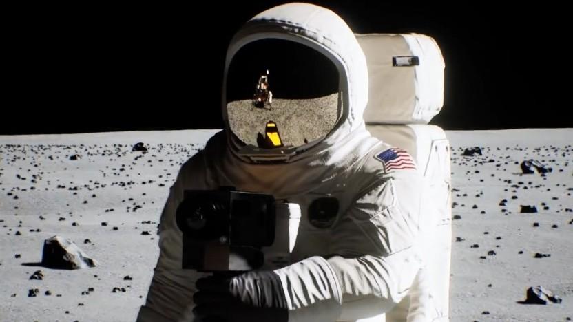 Mondlandung mit Raytracing im Rechner nachgestellt