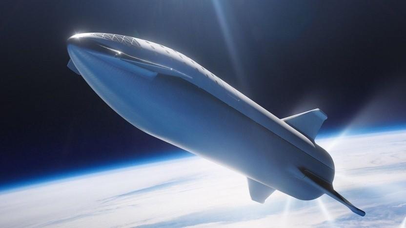 Raumfahrzeug Starship (Konzeptzeichnung)