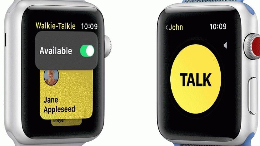 Walkie-Talkie auf der Apple Watch