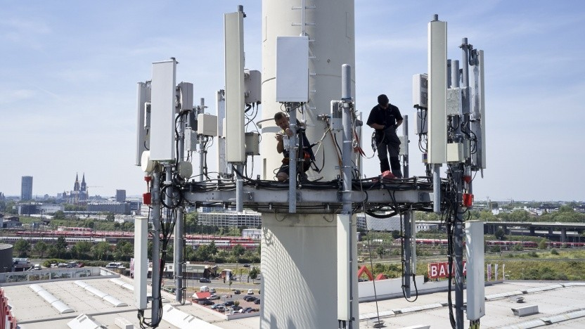 5G-Mobilfunkantenne in Köln