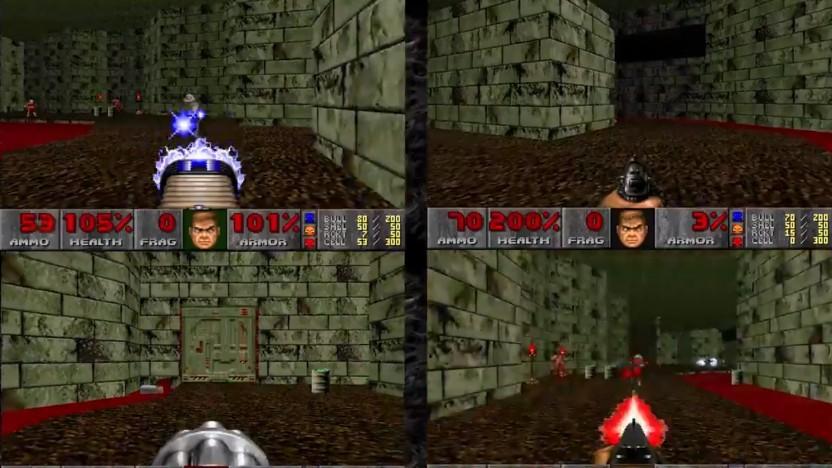 Doom 1 im Split Screen macht bestimmt Spaß.