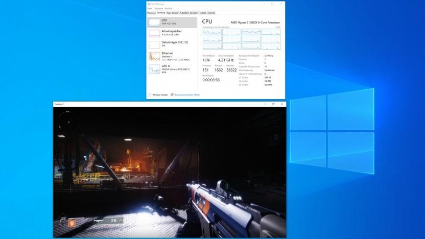 Destiny 2 auf einem Ryzen 5 3600X