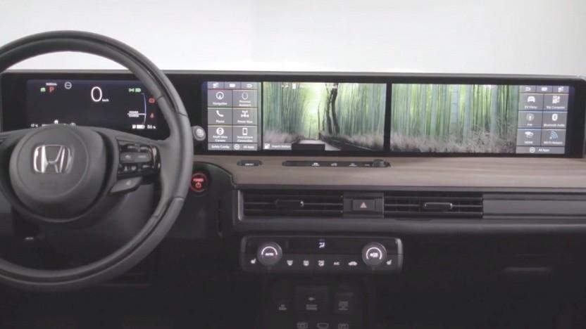 Der Touchscreen des Honda E