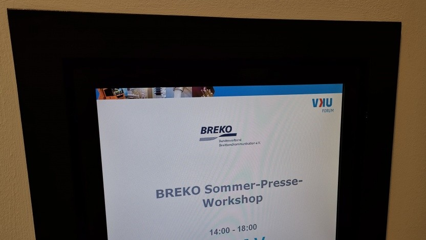 Beim Presse-Event des Breko