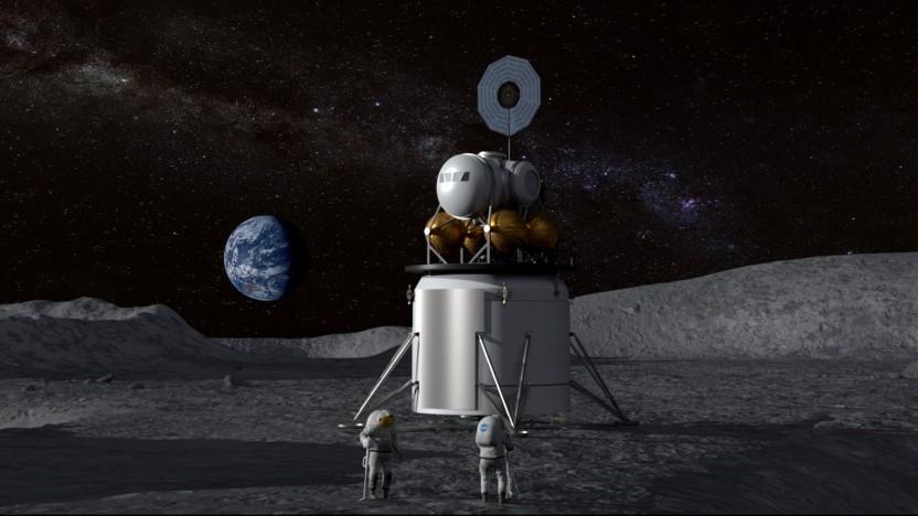 Künstlerische Darstellung einer Mondlandung: Kosten senken, Entwicklung beschleunigen