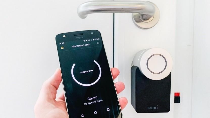 Nukis Smart Lock 2.0 schickt Status-Nachrichten ans Smartphone.