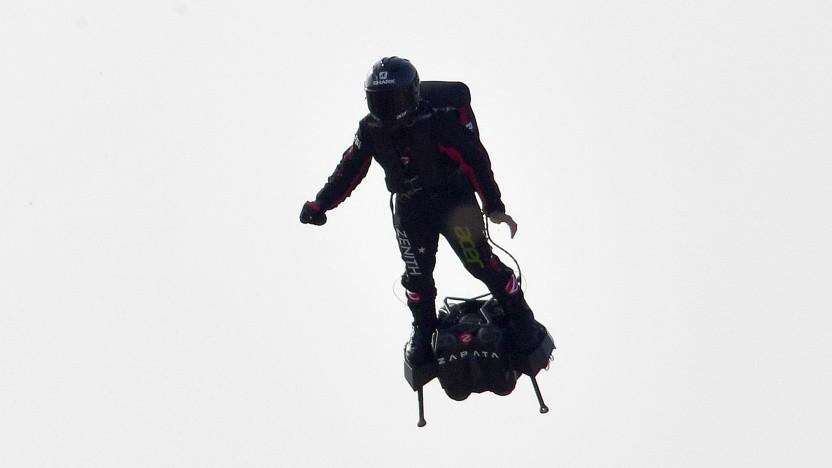 Franky Zapata auf dem Flyboard Air
