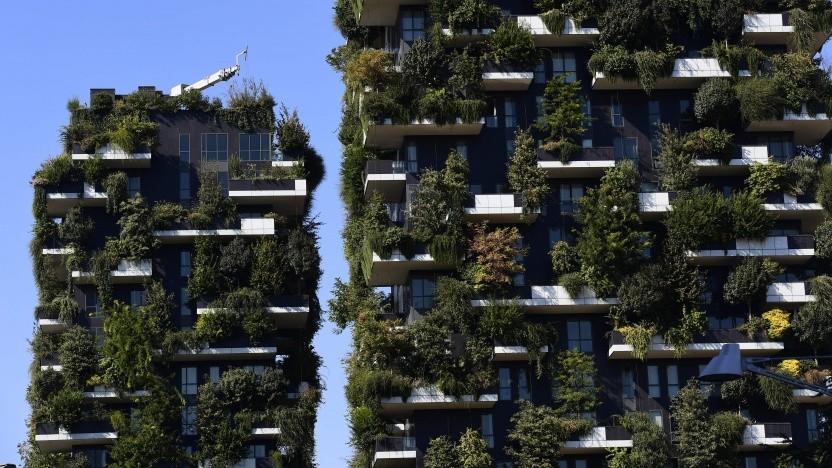 Grünes Hochhaus Bosco Verticale in Mailand: wirkt effizient gegen den Hitzeinsel-Effekt
