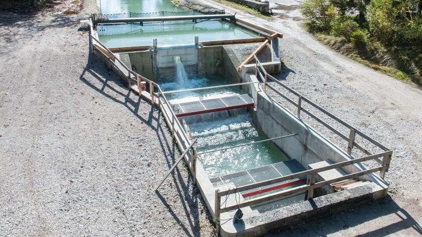 Schachtkraftwerk an der Loisach: Wasserkraftwerke sind bei Naturschützern umstritten.