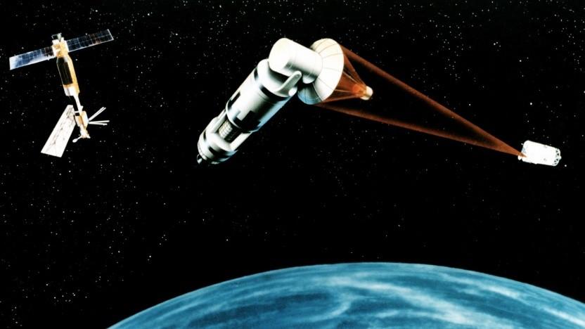 Laser zur Satellitenverteidigung plante die US-Armee schon in den 1980er Jahren.