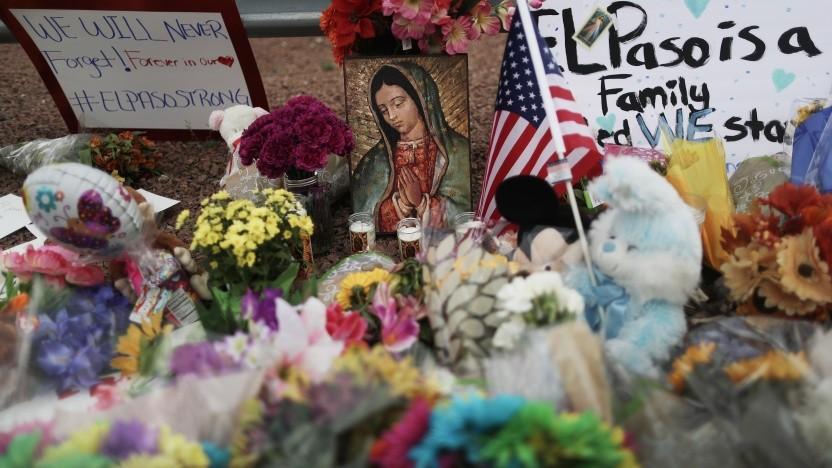 Gedenken an die Opfer des Attentäter von El Paso.