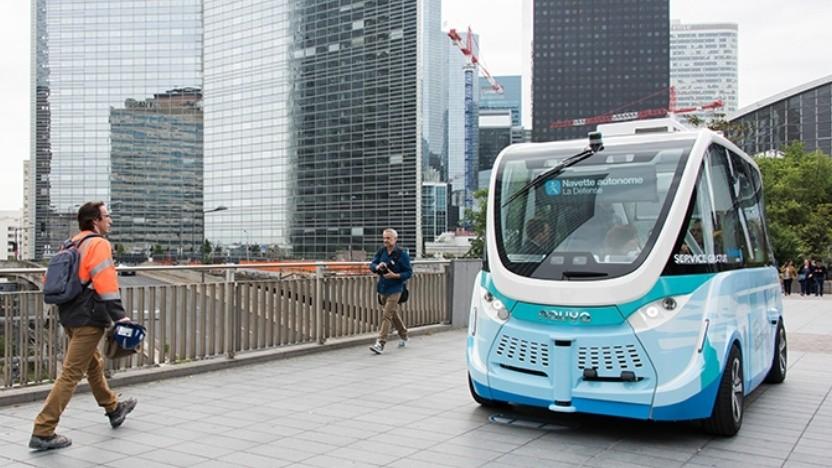 Die autonomen Kleinbusse von Navya