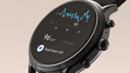 Eine voll digitale Android-Wear-Smartwatch von Fossil