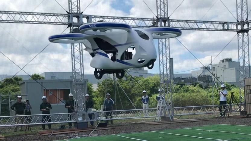 Fliegendes Auto von NEC und Cartivator: Serienfertigung ab 2026