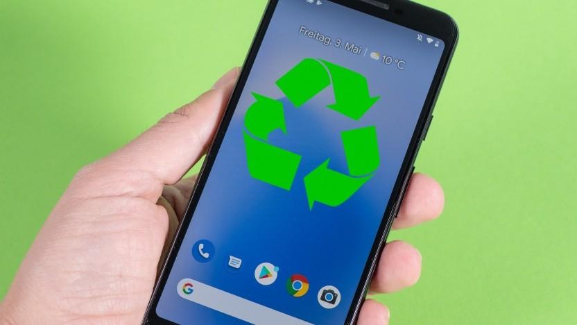 Smartphones wie das Google Pixel 3a sollen umweltfreundlicher werden.