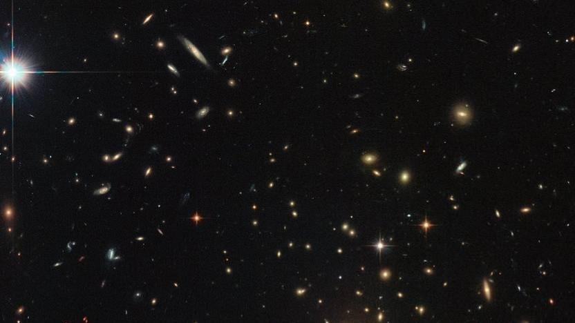 Galaxien (Symbolbild): Licht ins Infrarote verschoben