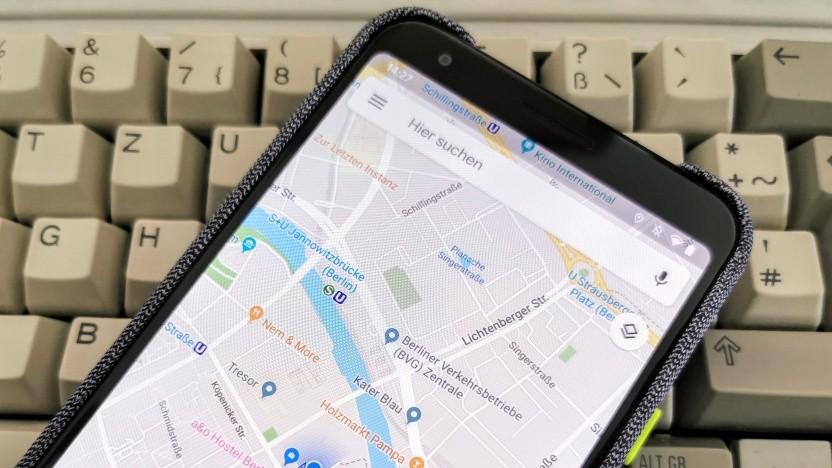 Google Maps auf einem Pixel 3a XL