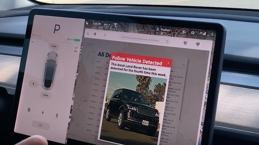 Teslas können mit Zusatzhard- und Software die Umgebung überwachen.