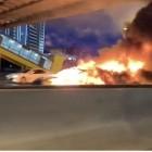 Moskau: Tesla Model 3 fängt nach Unfall Feuer
