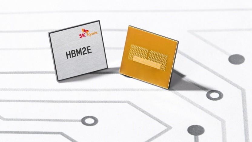 HBM2E von SK Hynix mit 16 GByte und 3,6 GBit/s