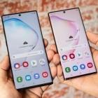 Werbung: Samsung bewirbt Galaxy Note 10 auf seinen Smartphones