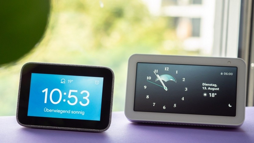 Lenovos Smart Clock und Amazons Echo Show 5 im Test (Video)