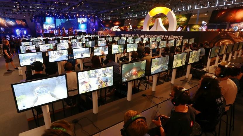 Spieler auf der Gamescom in Köln