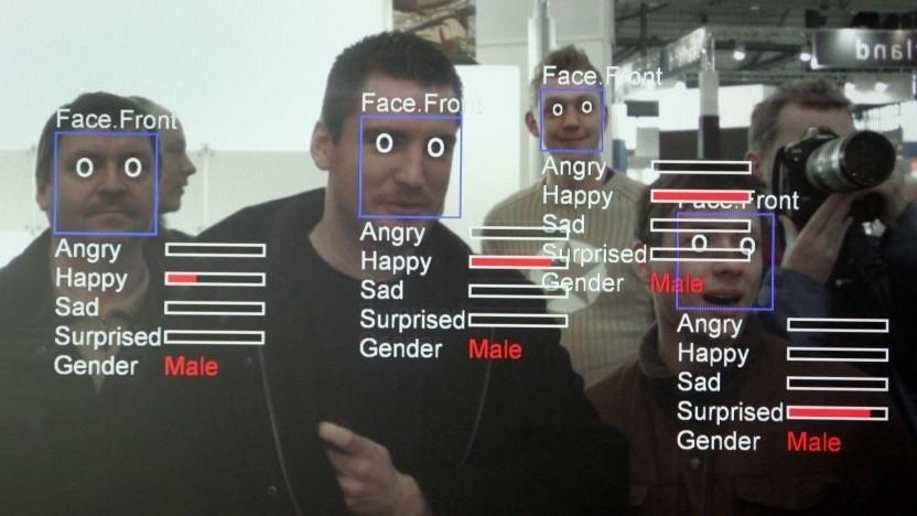 Gesichtserkennungssystem (Symbolbild): Einer von fünf Abgeordenten wurde fälschlich auf Polizeifotos erkannt.