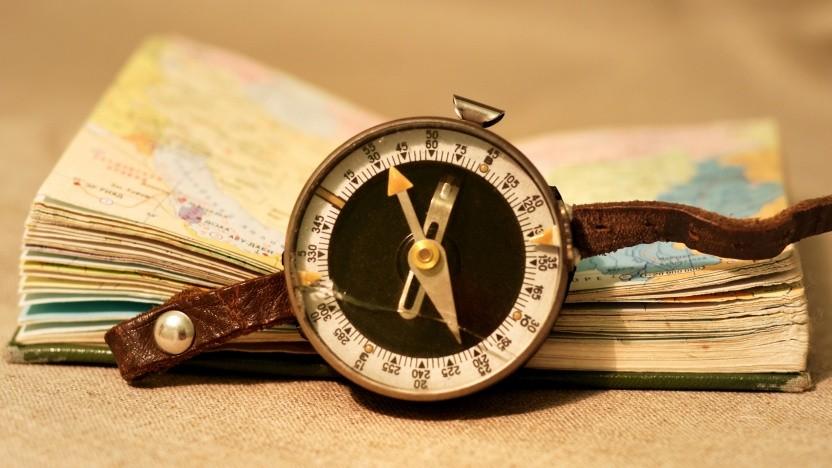 Das Logo von Safari und seiner Rendering-Engine Webkit ist ein Kompass.