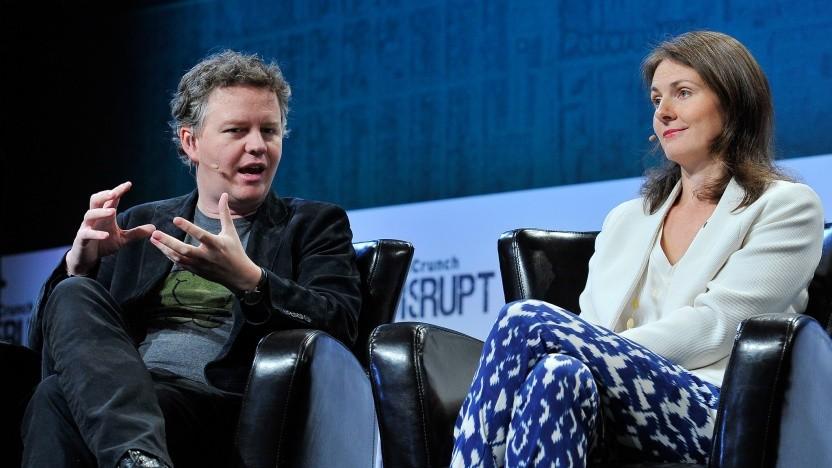 Die Cloudflare-Gründer Matthew Prince und Michelle Zatlyn im Jahr 2015