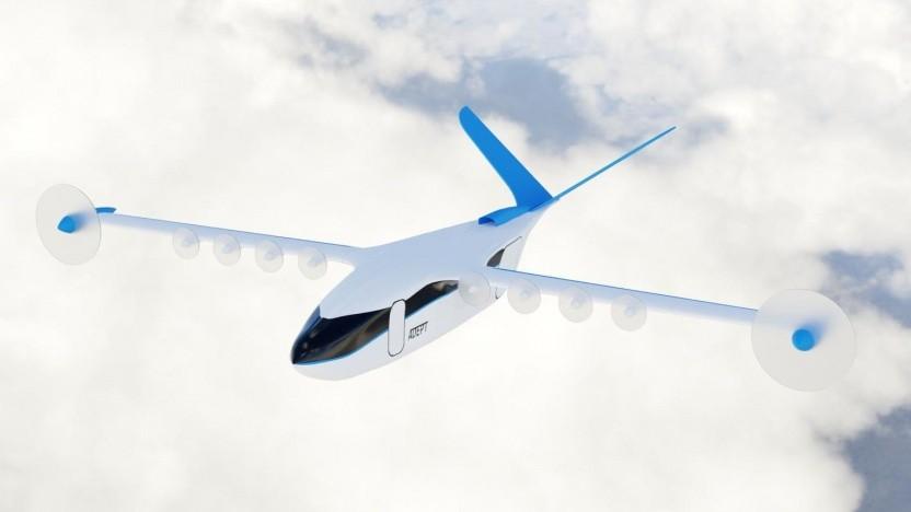 Entwurf Adept: Die Form der Flügel wird je nach Flugphase angepasst.