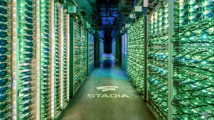 Artwork eines Stadia-Rechenzentrums von Google