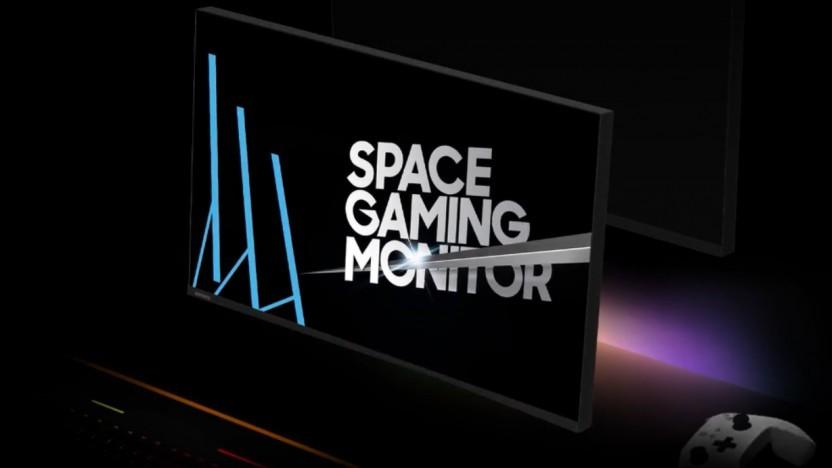 Der Gaming-Monitor Samsung Space tauscht 4K gegen 144 Hz ein.