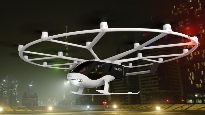 Lufttaxi Volocity: der bislang leistungsfähigste Volocopter